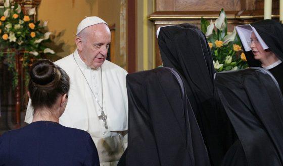 Papiez Franciszek w Lagiewnikach